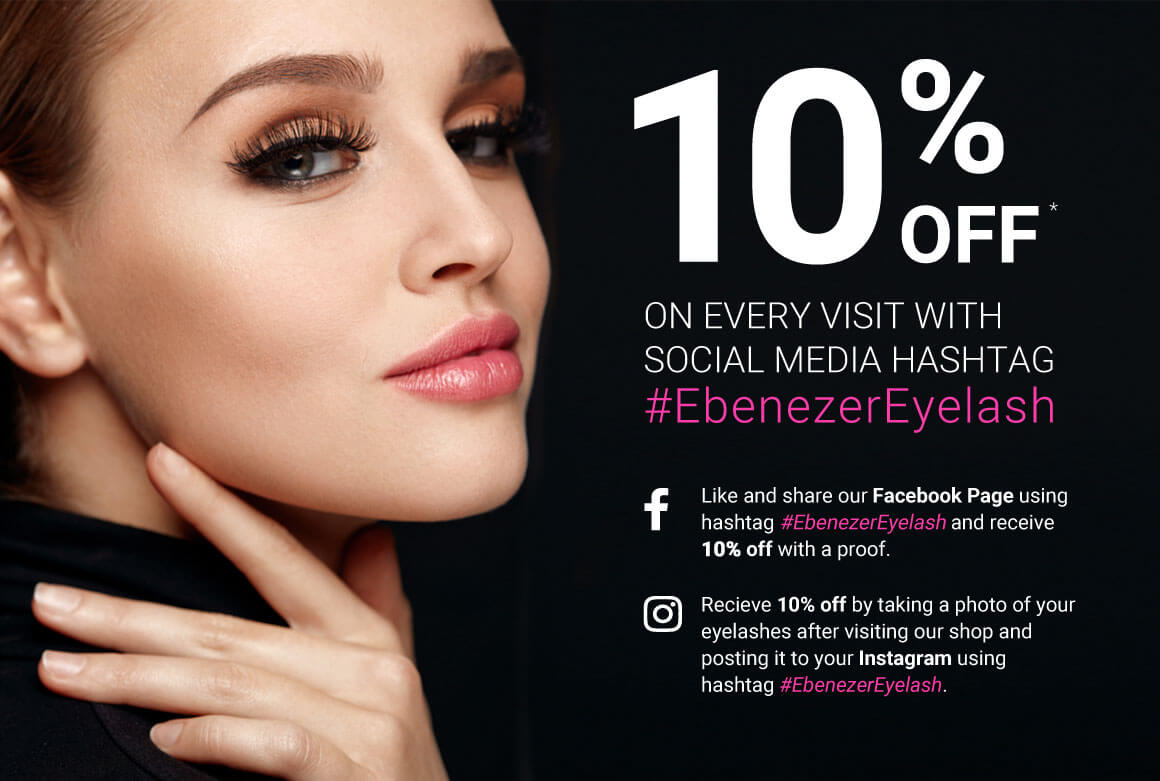Receive 10 Off With Every Visit To Ebenezer Eyelash